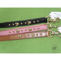 Leather leash French Bulldog