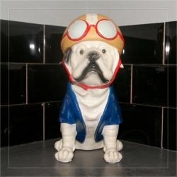 Statuette Bulldog biker