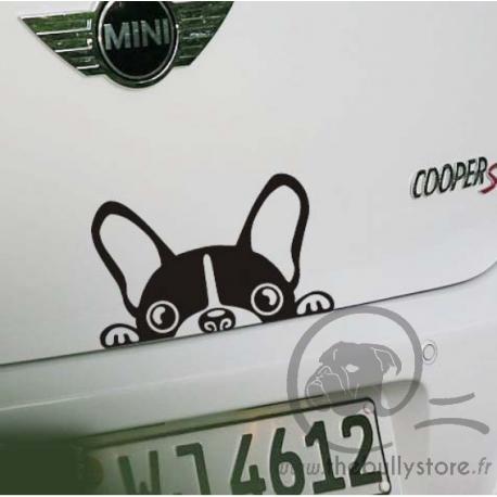 Sticker voiture Bouledogue Francais