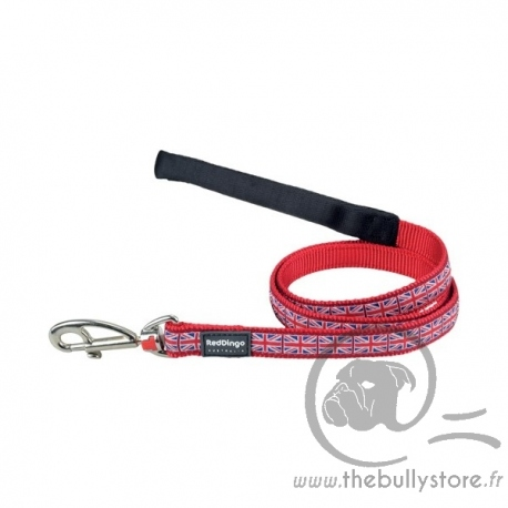 "Laisse Red Dingo Fantaisie rouge ""Union Jack"""
