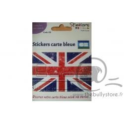 Sticker Carte Bancaire Drapeau Anglais