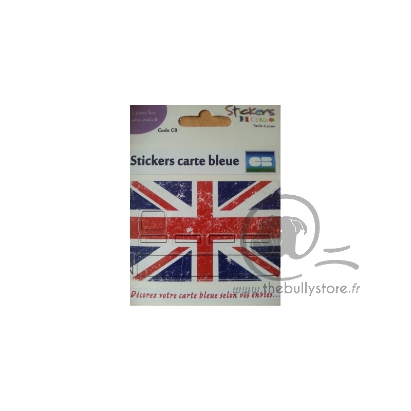 sticker carte bancaire drapeau anglais the bully store. Black Bedroom Furniture Sets. Home Design Ideas