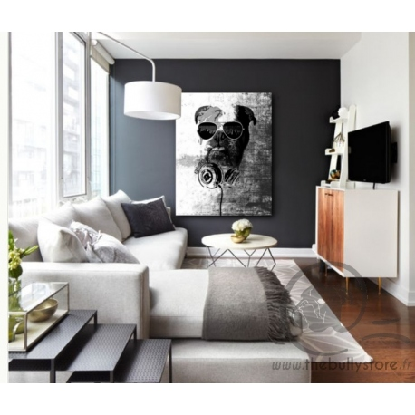 toile bulldog anglais dj. Black Bedroom Furniture Sets. Home Design Ideas