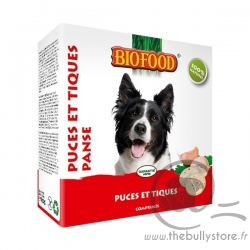 """Friandises """"puces et tiques"""" à la panse Biofood"""