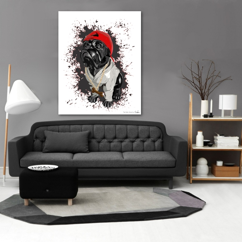 Exceptionnel Toile Bulldog Anglais Doggy swag TL43