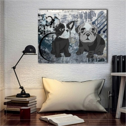 Toile Dual grunge puppy